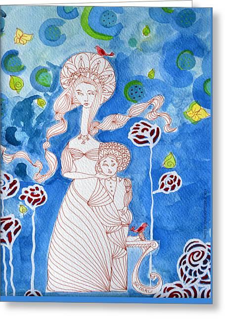 Fine Art Greeting Cards - A Fairy Tale Greeting Card by Beddru G-bellia