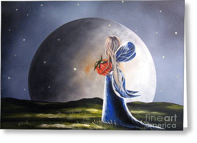 Recently Sold -  - Night Angel Greeting Cards - A Fairy Tale by Shawna Erback Greeting Card by Shawna Erback