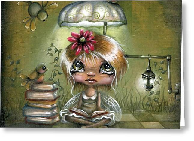 A Fairyland Novel Greeting Card by Robin Sample