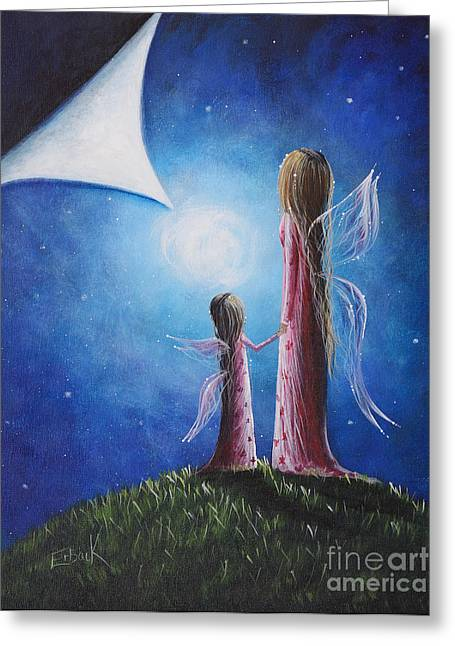 Fairies Greeting Cards - A Fairys Child by Shawna Erback Greeting Card by Shawna Erback
