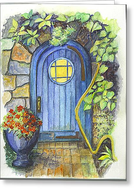 A Fairys Door Greeting Card by Carol Wisniewski