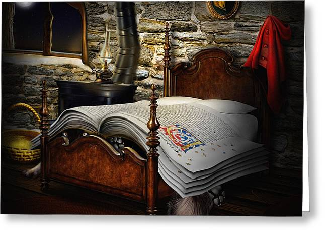 A Fairytale Before Sleep Greeting Card by Alessandro Della Pietra