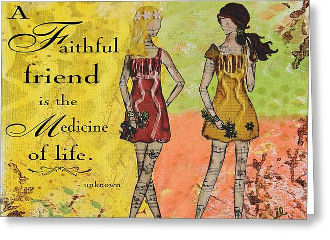 A Faithful Friend Inspirational Christian Artwork  Greeting Card by Janelle Nichol