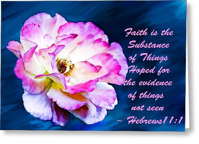 Testament Greeting Cards - A Faithful Rose and Verse Greeting Card by  Bob and Nadine Johnston