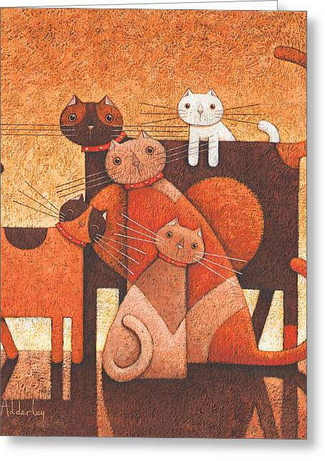 Animals Love Greeting Cards - A Family Affair Greeting Card by Peter Adderley