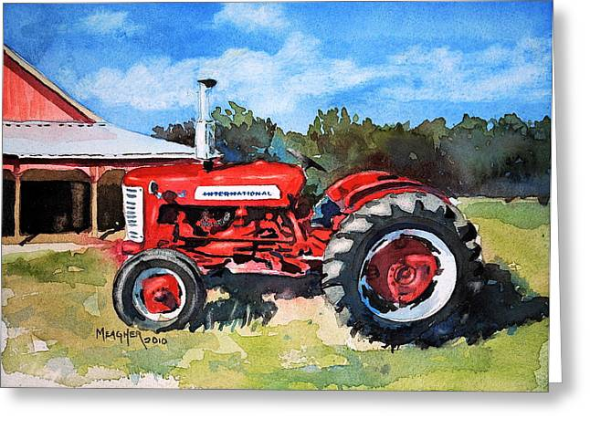 International Tractor Greeting Cards - A Family Heirloom Greeting Card by Spencer Meagher