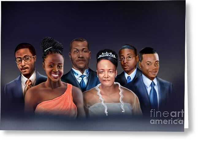 A Family Portrait Greeting Card by Reggie Duffie