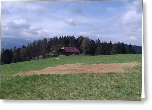 Slovakia Greeting Cards - A Farm in Slovakia Greeting Card by Mountain Dreams