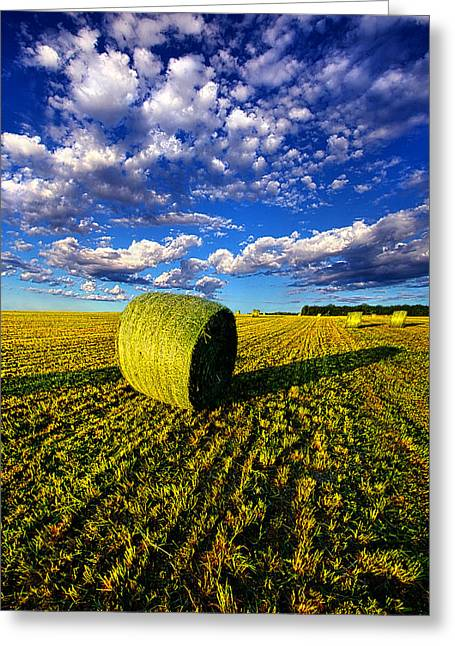 Geographic Greeting Cards - A Farmers Day Greeting Card by Phil Koch