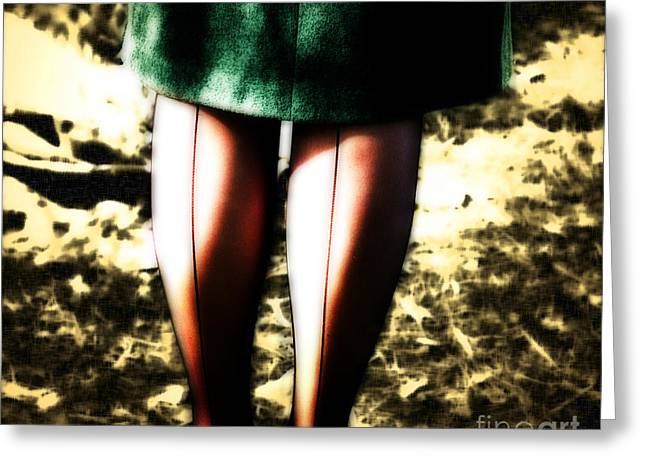 Hosiery Greeting Cards - A Farmers Lingerie  Greeting Card by Steven  Digman