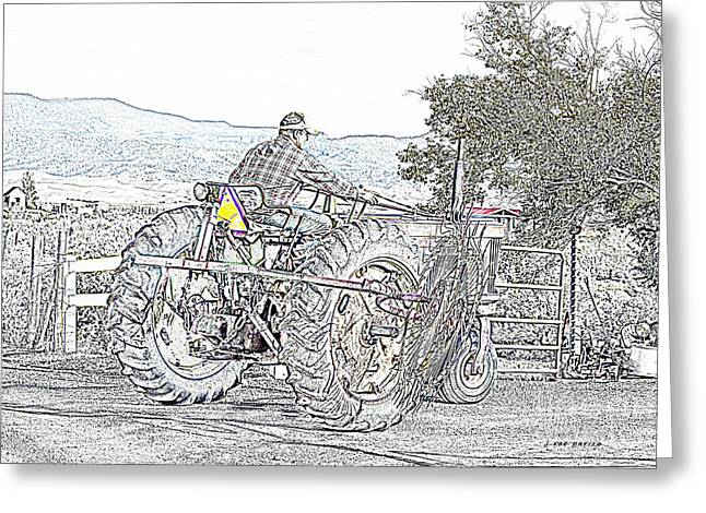 Cultivation Digital Art Greeting Cards - A Farmers Work Is Never Done Greeting Card by Janice Rae Pariza