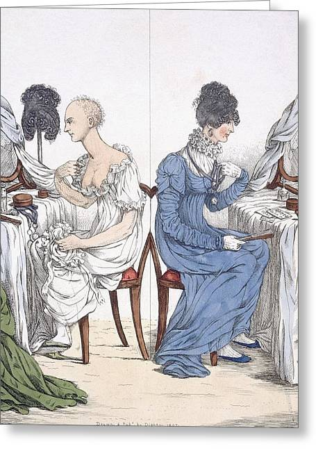 Irony Greeting Cards - A Fashionable Lady, Pub. 1807 88a Greeting Card by Richard Dighton