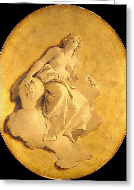 Giovanni Battista Tiepolo Greeting Cards - A Female Allegorical Figure Greeting Card by Giovanni Battista Tiepolo