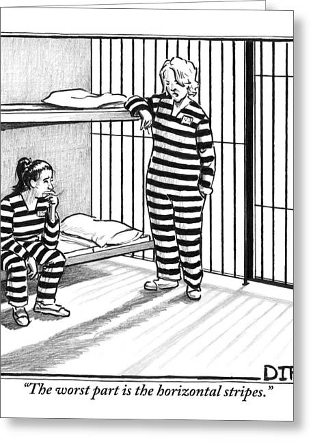 A Female Prisoner Greeting Card by Matthew Diffee