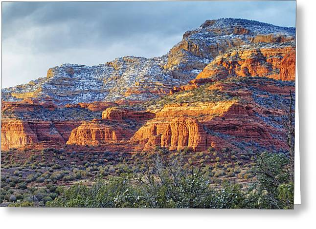 Arizona Greeting Cards - A Feruary Night Greeting Card by Phill  Doherty