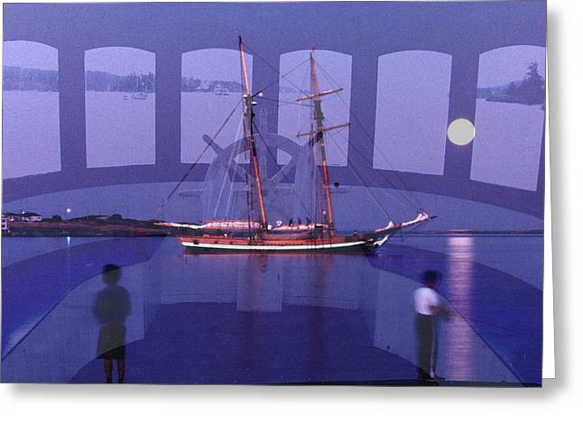 Sea Moon Full Moon Greeting Cards - A Few Views Greeting Card by Lyn  Perry