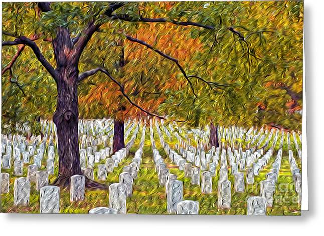 Arlington Greeting Cards - A Field of Peace Greeting Card by Paul W Faust -  Impressions of Light
