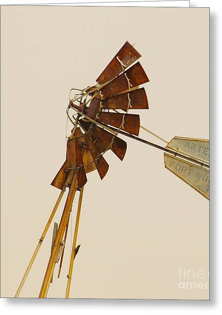 Aermotor Greeting Cards - A Fierce Prairie Wind Greeting Card by Robert Frederick