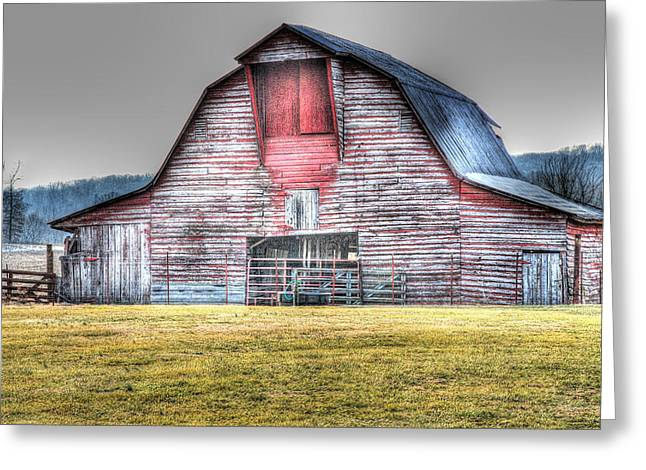 Tennessee Barn Digital Art Greeting Cards - A Fine Barn Greeting Card by Linda Segerson