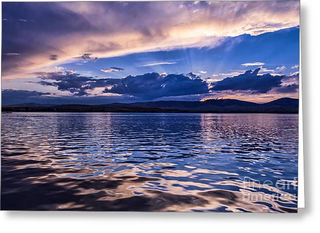 Scotts Scapes Greeting Cards - A Fine Flathead Sunset II Greeting Card by Scotts Scapes