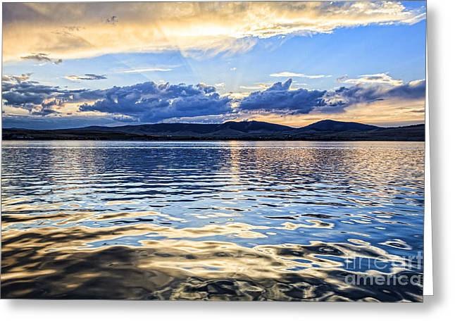 Scotts Scapes Greeting Cards - A Fine Flathead Sunset Greeting Card by Scotts Scapes