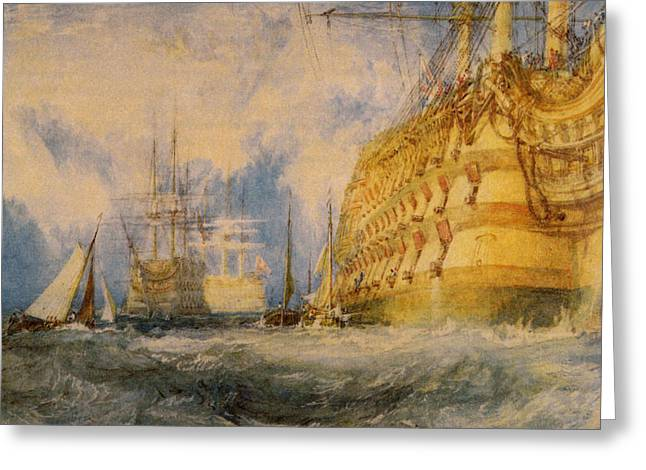 Jmw Greeting Cards - A First Rate Taking in Stores Greeting Card by Joseph Mallord William Turner