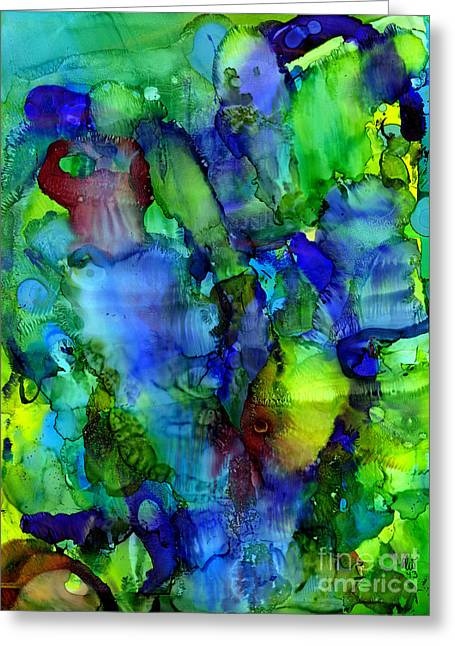 Survivor Art Greeting Cards - A Fish Story Greeting Card by Angela L Walker