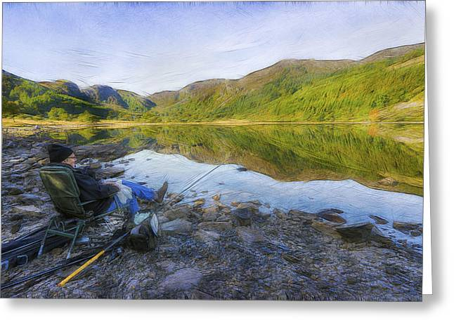 Wales Framed Prints Greeting Cards - A Fishermans Tale Greeting Card by Ian Mitchell