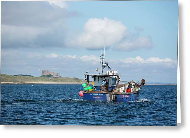 A Fishing Boat Greeting Card by Ashley Cooper