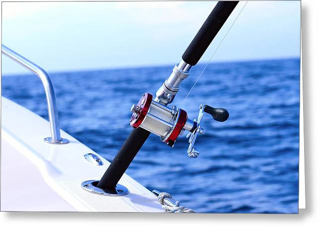 A Fishing Rod  Greeting Card by Toppart Sweden
