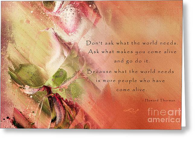 Happiness Quotes Greeting Cards - A Fleur de Peau - Happiness Quote 02 Greeting Card by Aimelle