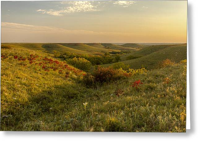 Pottawatomie Greeting Cards - A Flint Hills View Greeting Card by Scott Bean