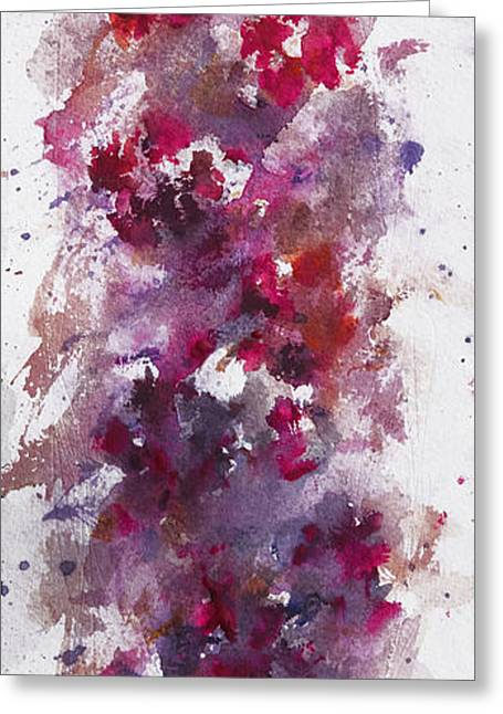 Mystical Landscape Greeting Cards - a floral dream I Greeting Card by Rachel Christine Nowicki