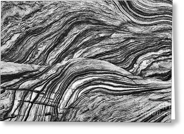 White Sandstone Greeting Cards - A Flow of Time Greeting Card by Tim Gainey