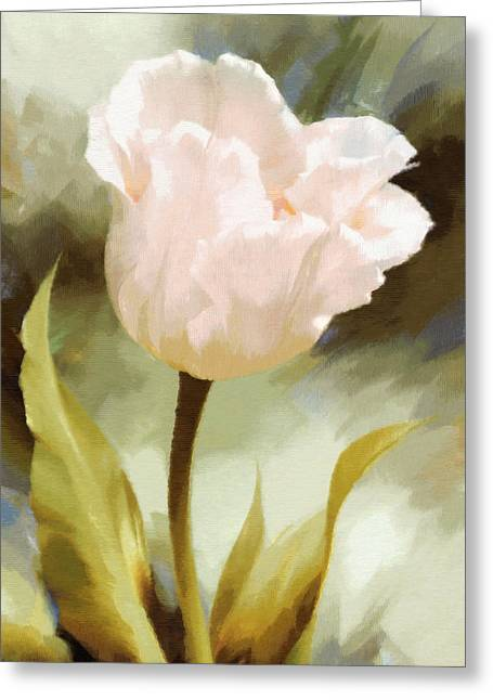 One Beautiful Flower Impressionism Greeting Card by Georgiana Romanovna