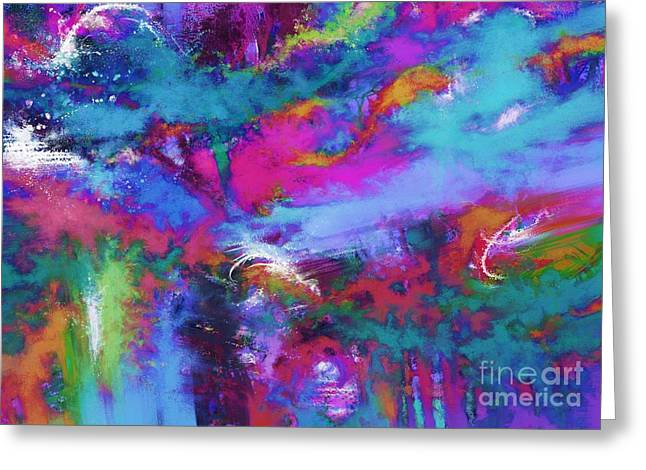 Turbulent Skies Digital Art Greeting Cards - A fluid storm Greeting Card by Keith Mills