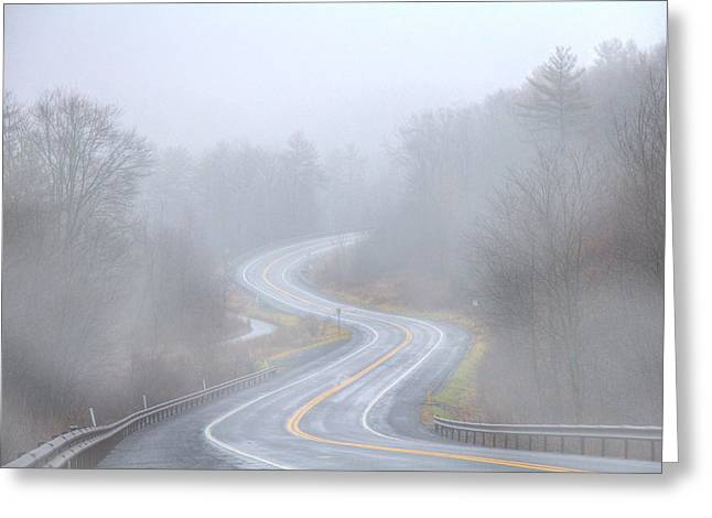 A Foggy Start Greeting Card by Sharon Batdorf