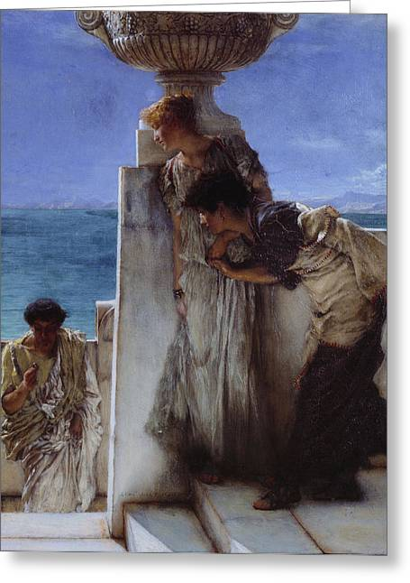 Conclusion Greeting Cards - A Forgone Conclusion Greeting Card by Lawrence Alma-Tadema