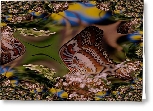 Butterfly Digital Art Greeting Cards - A Fractual Butterfly Greeting Card by Jeff  Swan