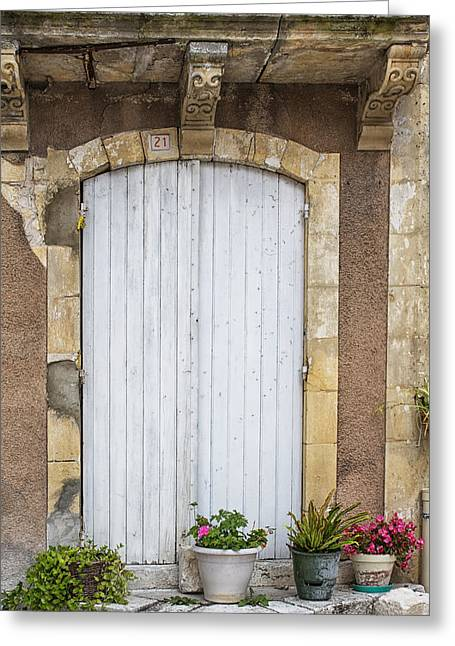 French Doors Greeting Cards - A French Sunday Afternoon Greeting Card by Nomad Art And  Design