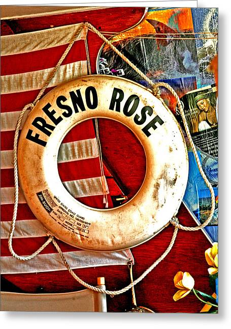 Seacape Greeting Cards - My Fresno Rose Greeting Card by Joseph Coulombe