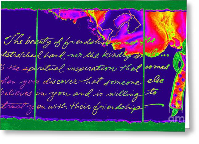 Survivor Art Greeting Cards - A Friendship Letter Greeting Card by Angela L Walker