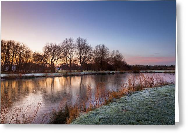 Smart Greeting Cards - A Frosty Morning Greeting Card by Christine Smart