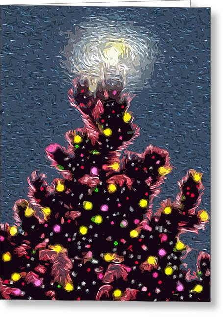 Reason For The Season Greeting Cards - A Full Moon Christmas  Greeting Card by Kathy Bassett