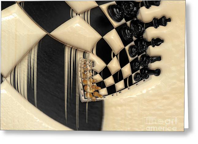 A Game Of Chess Greeting Cards - A Game Of Chess Greeting Card by Liane Wright