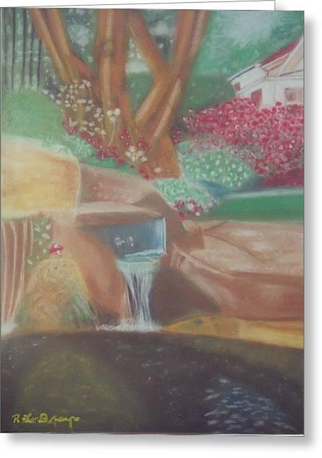 Robert Bray Greeting Cards - A Garden Of Peace Greeting Card by Robert Bray