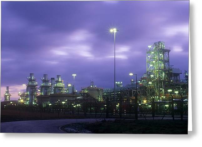 A Gas Processing Plant Greeting Card by Ashley Cooper