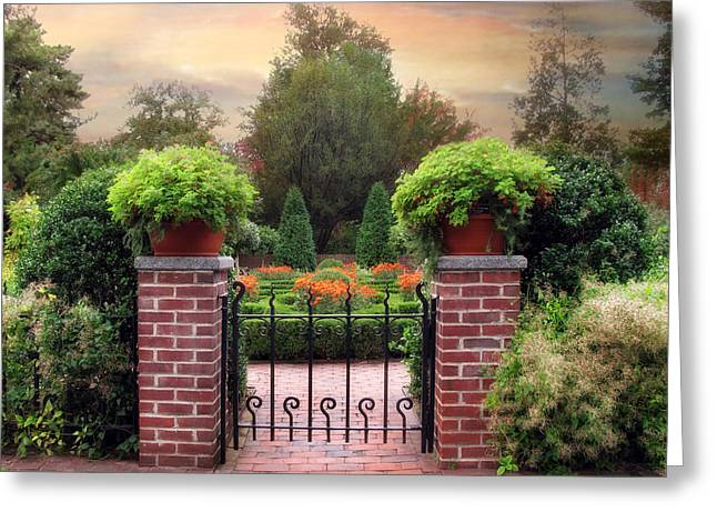 A Gated Garden Greeting Card by Jessica Jenney