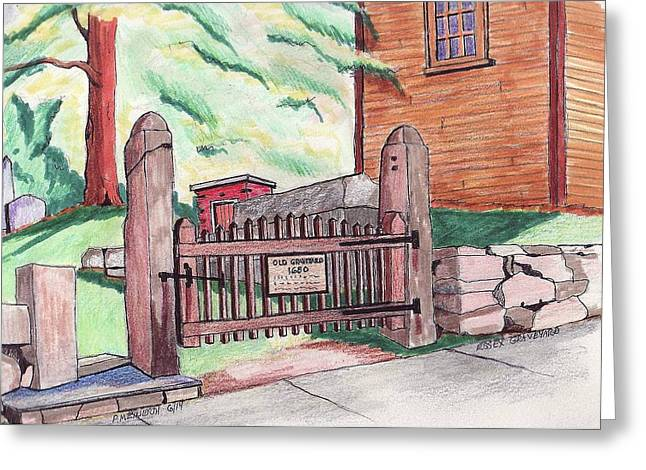 Stonewall Drawings Greeting Cards - A gateway to the Past Greeting Card by Paul Meinerth