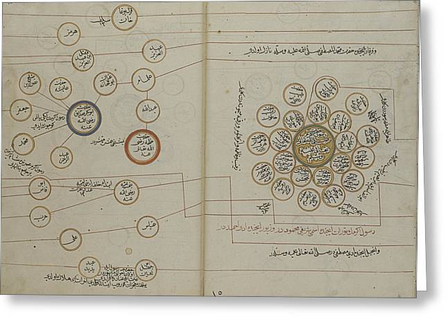 A Genealogy Of The Ottoman Sultans Greeting Card by Celestial Images
